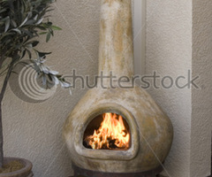 Small Outdoor Patio Fireplace, Kiva Design Stock Photo 12849091 : Shutterstock