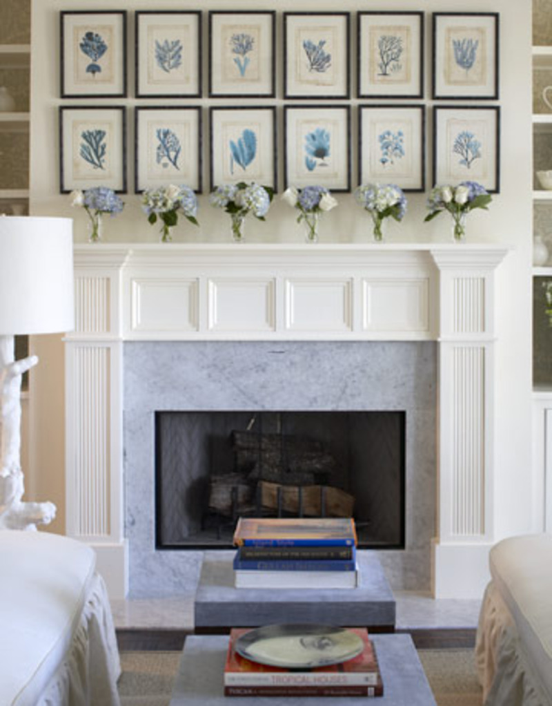Fireplace designs design bookmark 6723 for Decor over fireplace
