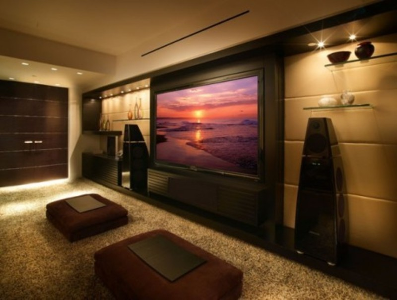 Modern Media Room Design Pictures Remodel Decor And