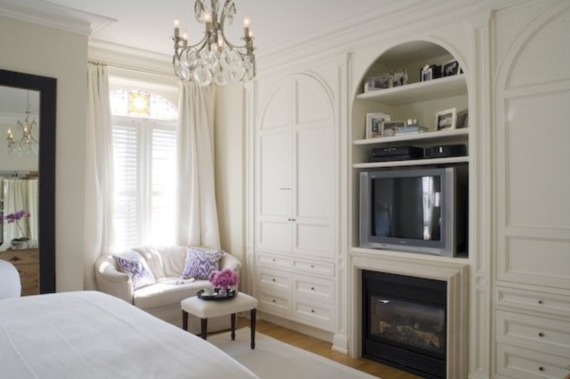 Tv over fireplace taboo no more design bookmark 6731 - Beautiful bedroom built in cupboards ...