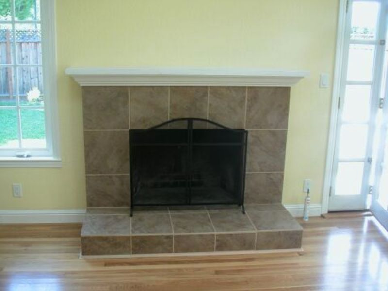 Fireplace remodeling refacing pictures design bookmark 6742 - Tile over brick fireplace ...