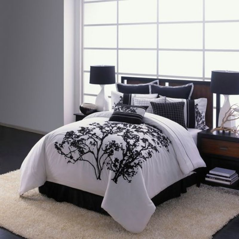 Sets, Queen King Size Bedding Sets Bed Room in a Bag Comforter Set ...