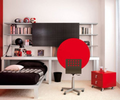 Cool Trendy Teen Bedroom Ideas in Stunning Red and White Colors