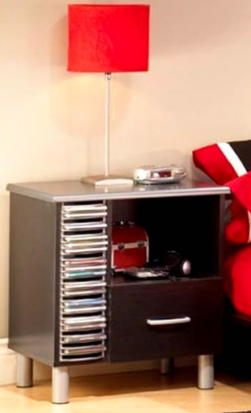 Stylish Bedroom Furniture Set For Teens In Red And Black 3