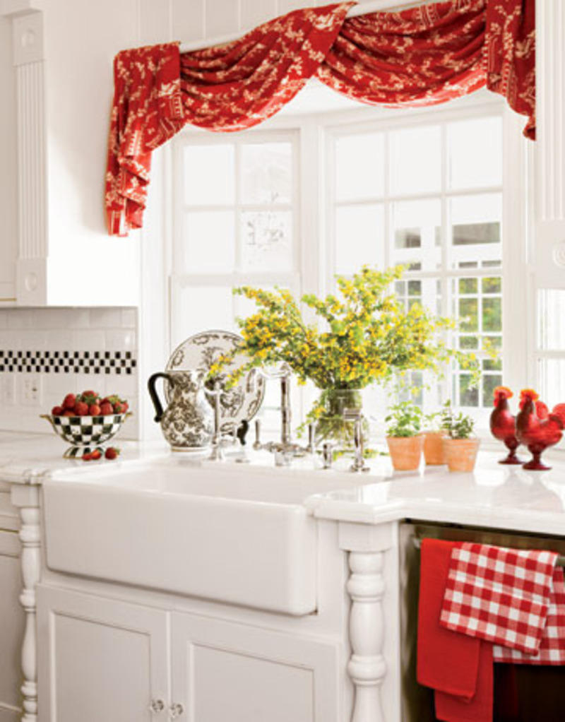 Red kitchen decorating ideas sample designs and ideas of - Red and white kitchen decor ...
