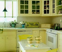Best Decorating for Yellow Kitchen Cabinets Design