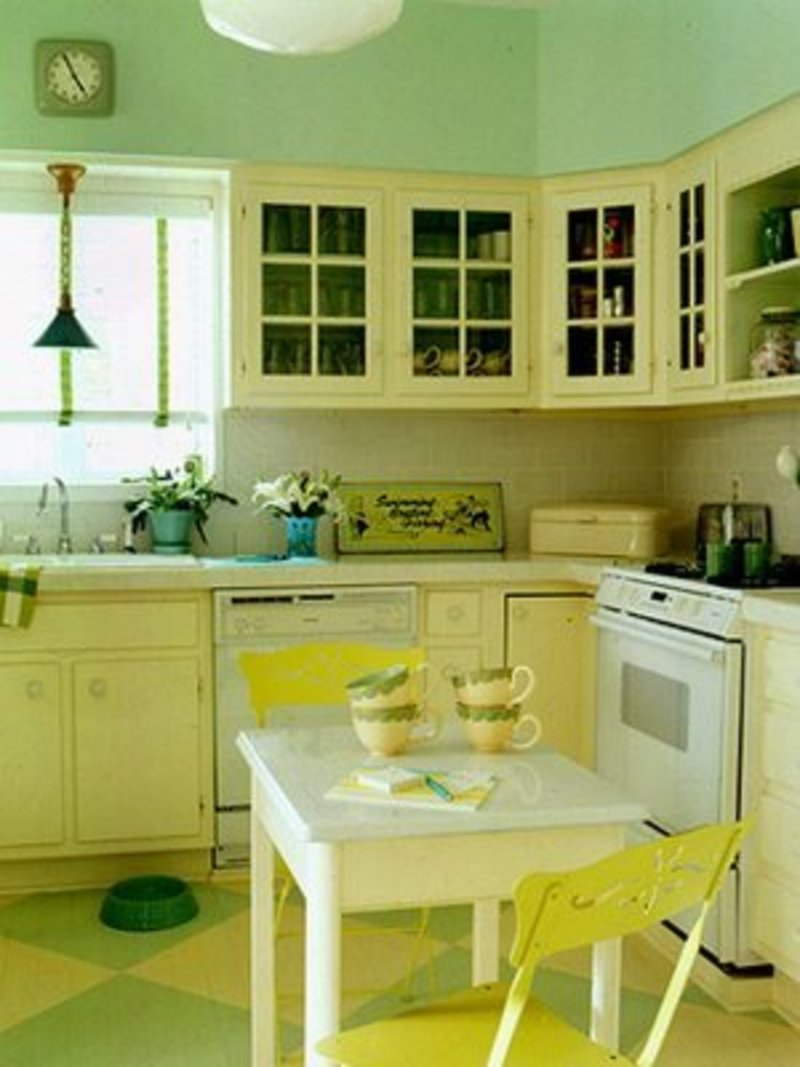 Yellow Kitchen Cabinets Brilliant With Yellow Kitchen Cabinets, Best Decorating for Yellow Kitchen Cabinets  Image