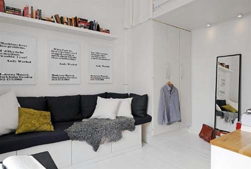 Studio Apartment Interior Design, Cool Small Studio Apartment Interior ...