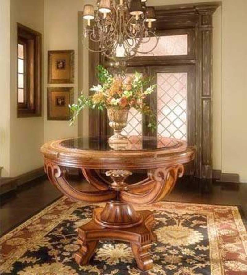 Round Foyer Table Ideas : Foyer table for home improvement design bookmark