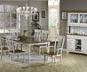 7 Pc Country Farmhouse Style Dining Table and Chairs Set