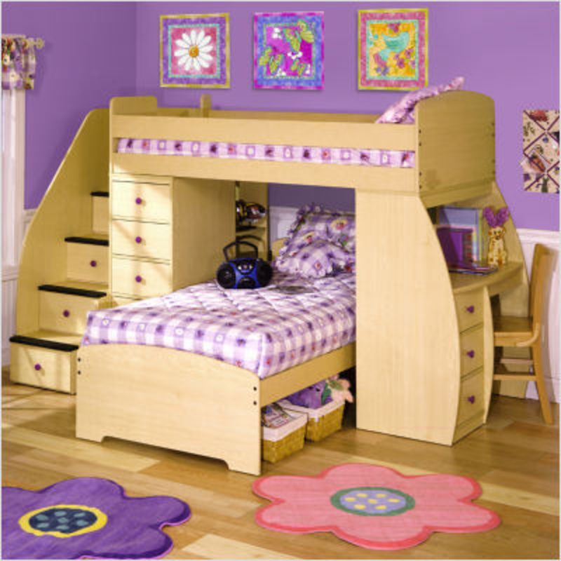 Bunk Beds with Stairs for Girls 800 x 800