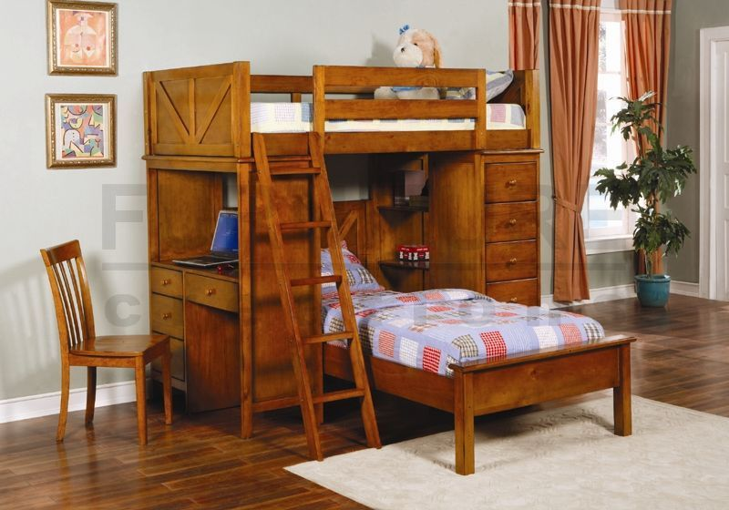 Bunk Bed with Desk 800 x 560