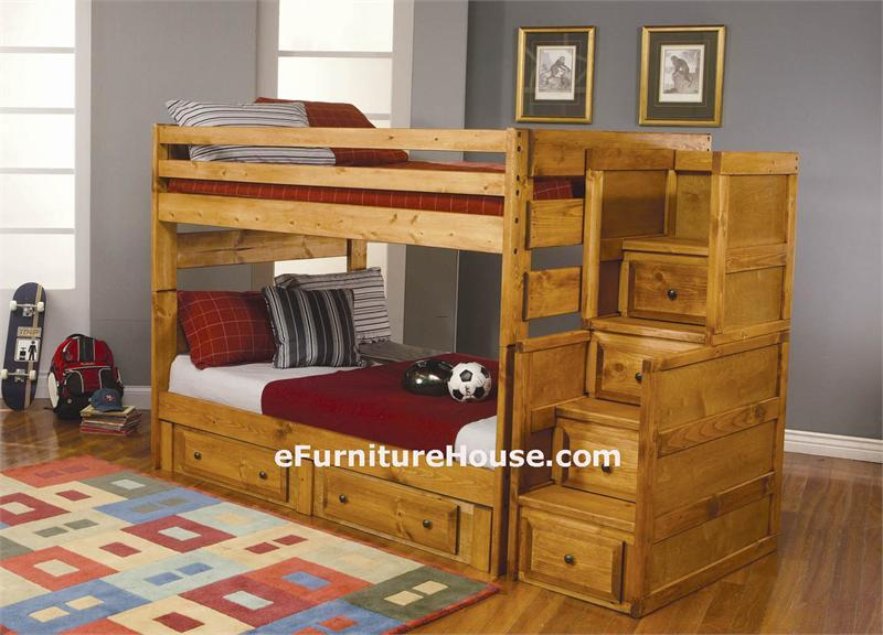 Full Bunk Beds with Stairs 800 x 576