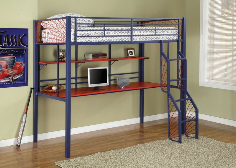 SpiderMan Loft Bed with Desk 800 x 571
