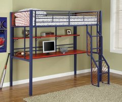 Spiderman Style Twin Loft Bunk Bed