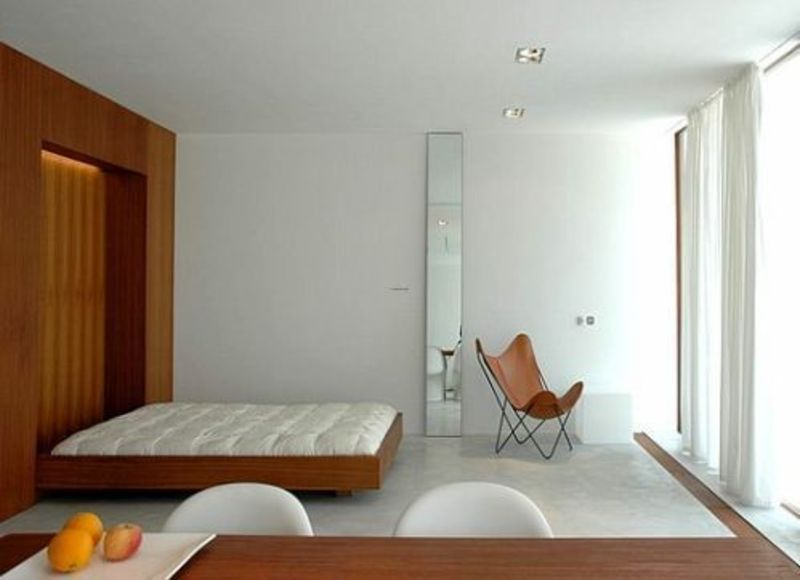 Minimalist modern house interior design design bookmark for Modern minimalist house design