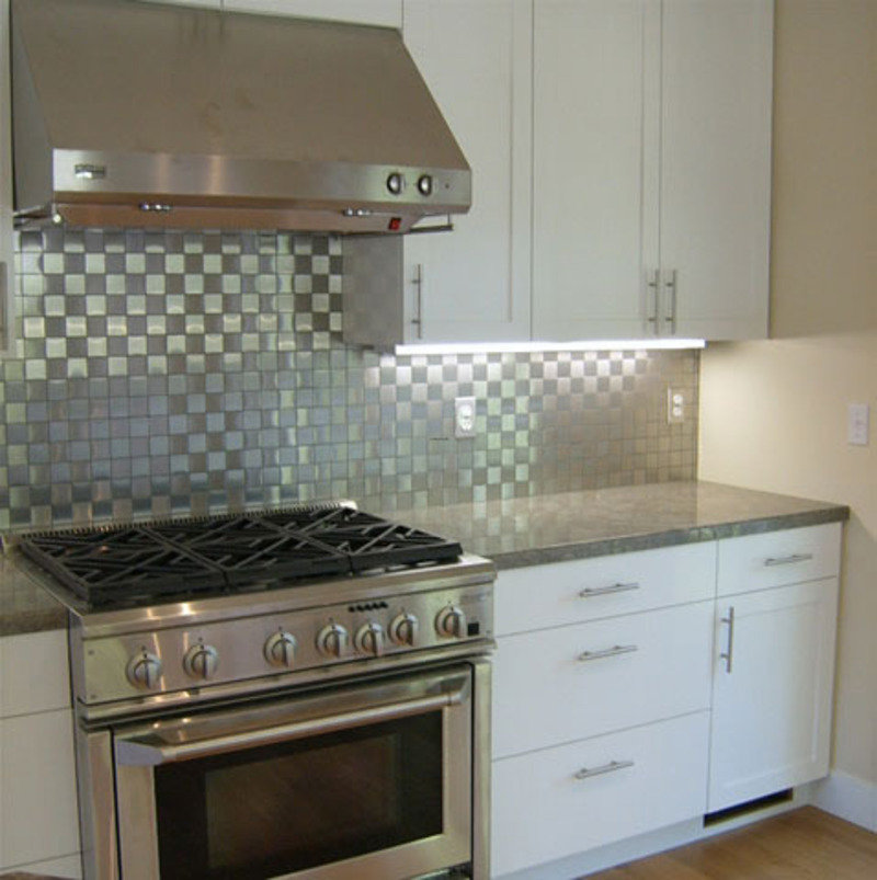 Stainless Steel Backsplash, Stylish Stainless Steel Backsplash