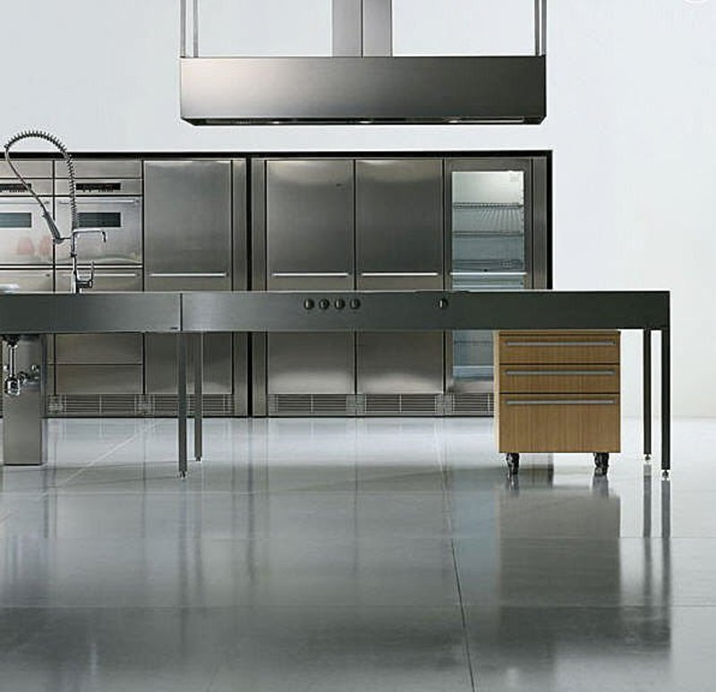 15 Contemporary Kitchen Designs With Stainless Steel: Contemporary Stainless Steel Kitchen / Design Bookmark #7108