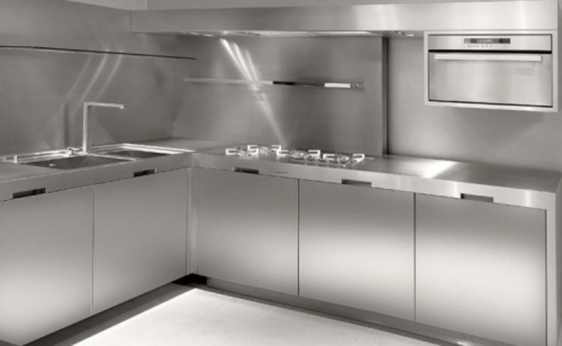 Stainless Steel Kitchen Cabinets - choice of metal kitchen cabinets