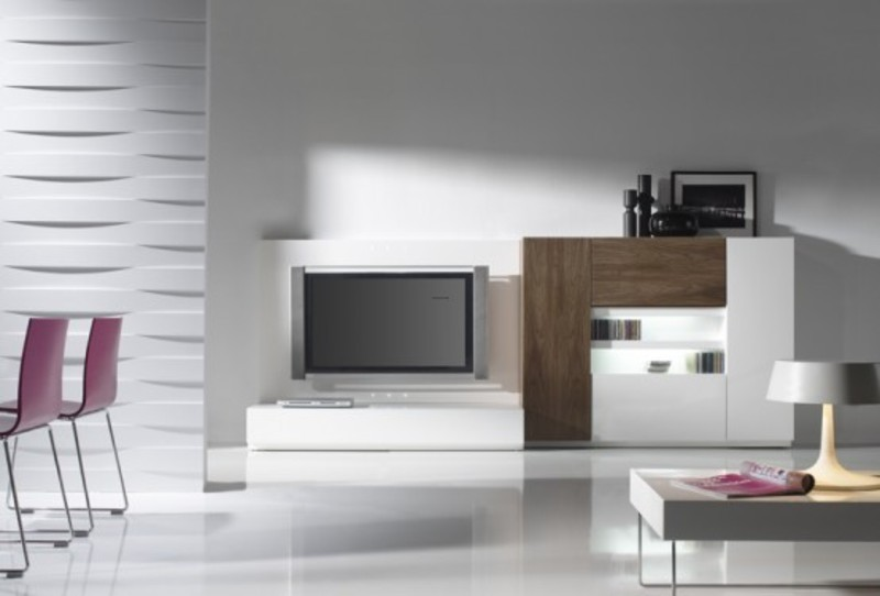 Ultra modern living room design with lcd tv cabinets for Ultra modern living room ideas