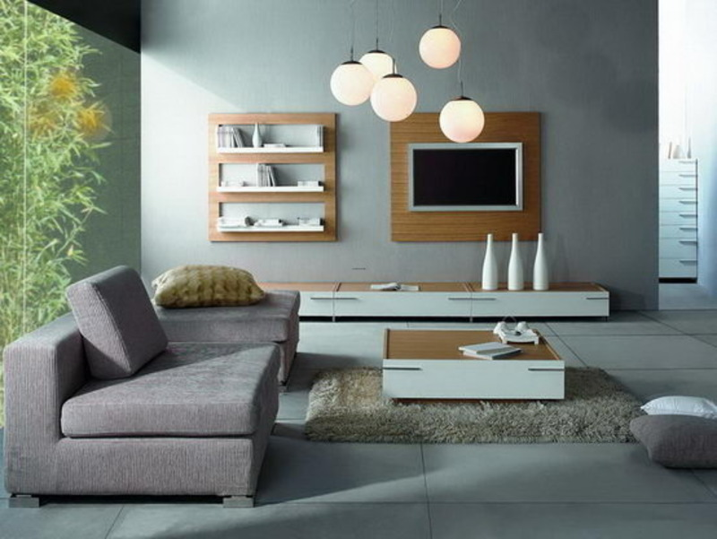 Family room simple minimalist with color grey modern - Gray modern living room furniture ...
