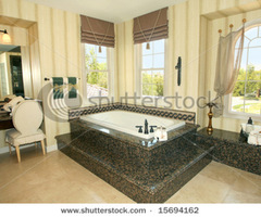 Elegant Master Bathroom With Granite Details Stock Photo 15694162 : Shutterstock