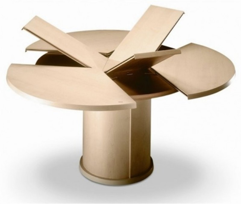 Contemporary Expandable Round Dining Table Design By