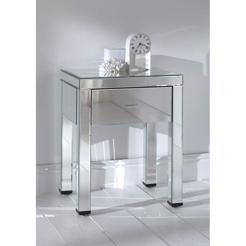Mirrored Side Table, Romano Mirrored Side Table