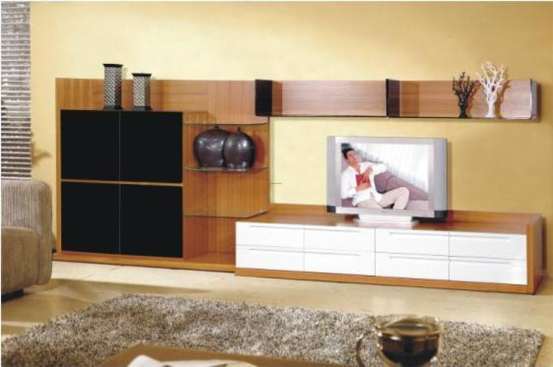 Ultra modern living room design with lcd tv cabinets Living room cupboards designs