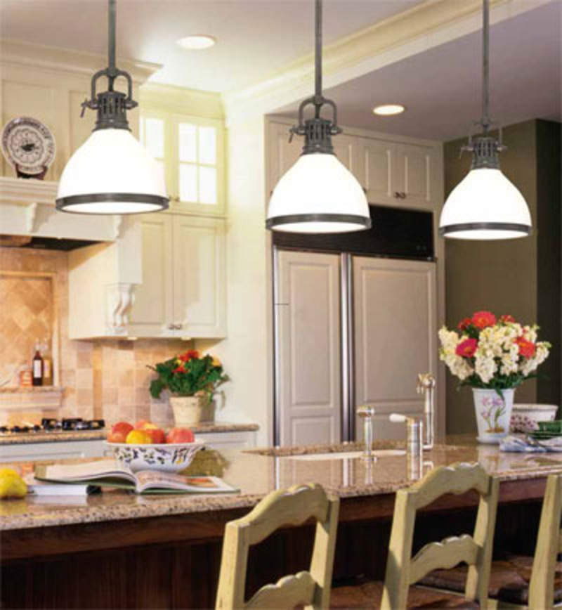 Kitchen lighting best layout room for Kitchen island lighting pendants