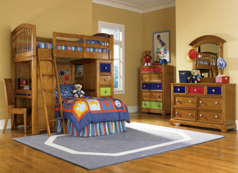 Kids Bunk Beds with Stairs and Slide 800 x 582
