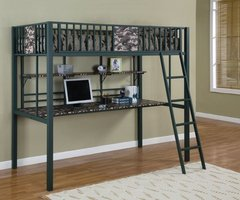 Army Camouflage Twin Loft Bunk Bed