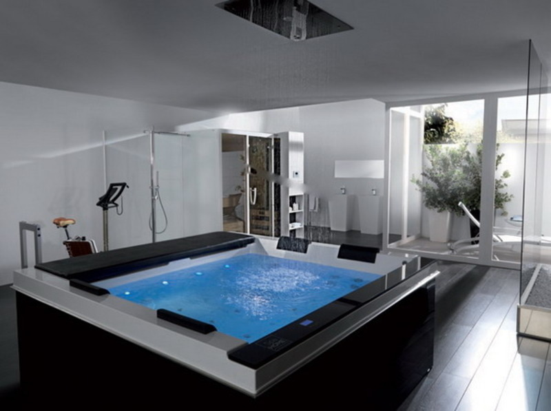 The best styling of modern bathroom jacuzzi design for Bathroom jacuzzi decor