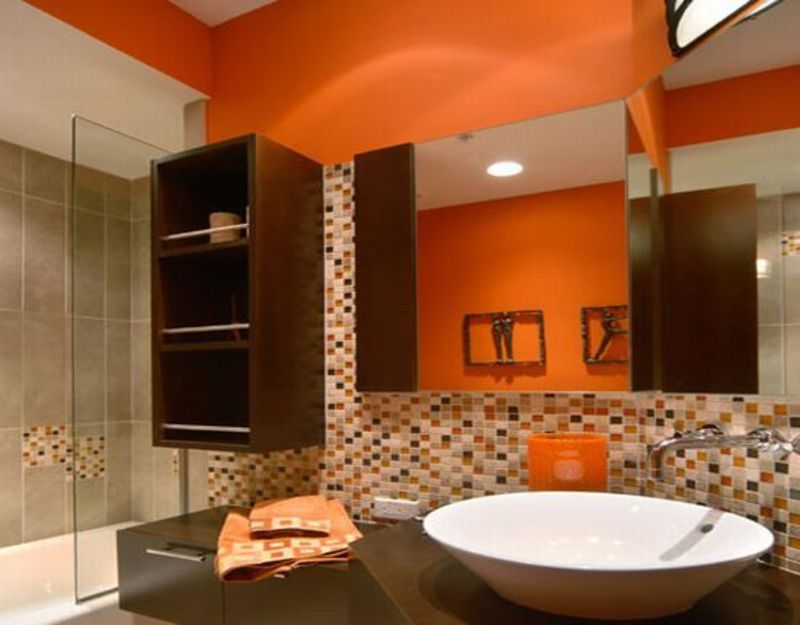 bedroom orange wall home decorating gallery in simple orange interior