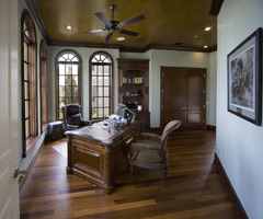 Wooden Luxury Home Office Design