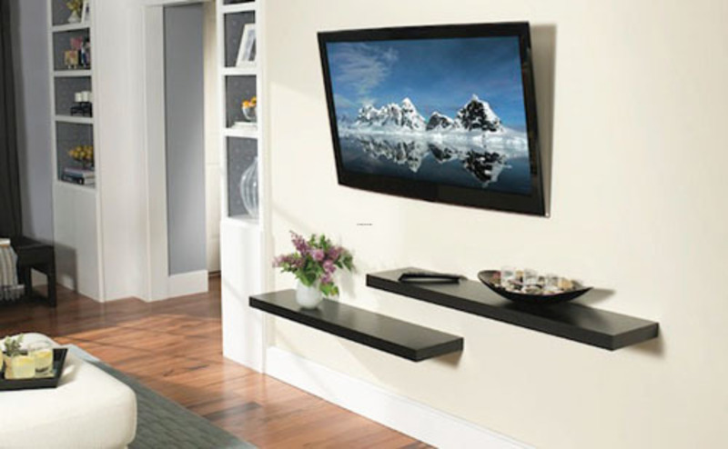 Choose lcd tv wall mount design for your modern home - Hanging tv on wall ideas ...