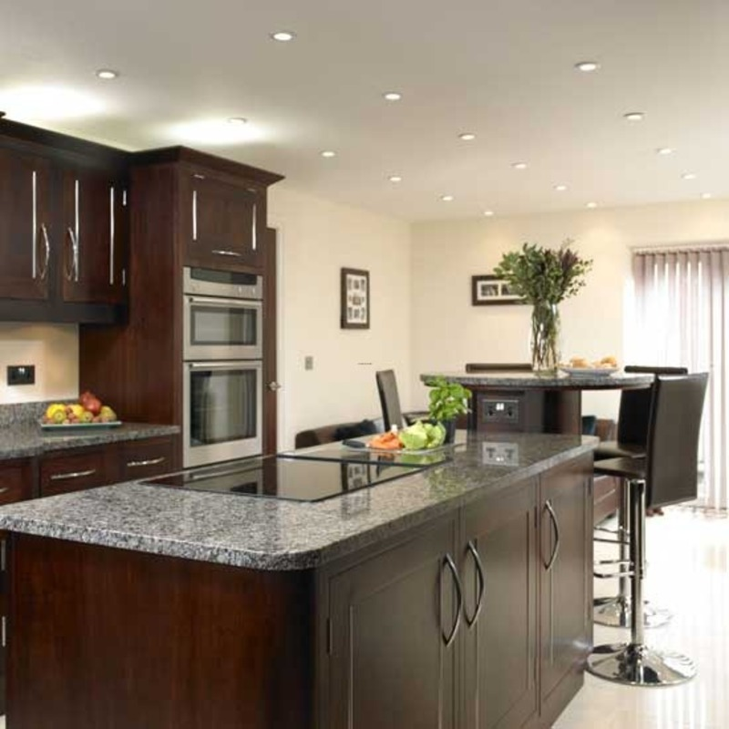 Dark Contemporary Kitchens Dark Wood Kitchen Cabinets