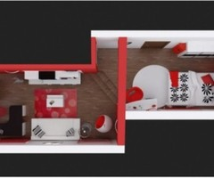 Modern Contemporary Bedroom Colors Ideas With Paint Idea in Red, Black and White