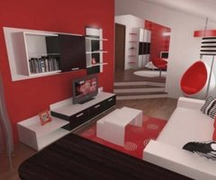 Perfect Inspiring Contemporary Bedroom in Red, Black and White » house design, home interior, interior design, furniture