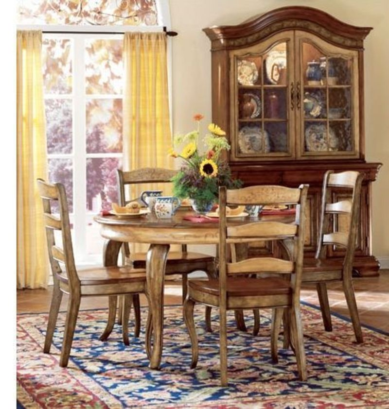 Country style dining room table sets