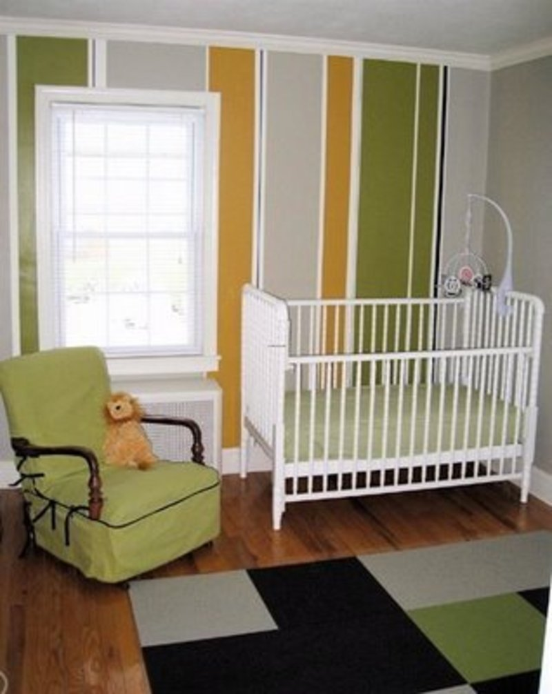 Custom nursery art by kimberly paint your walls post one for Painting stripes on walls