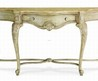 Terracina Collection sofa table in creamy finish