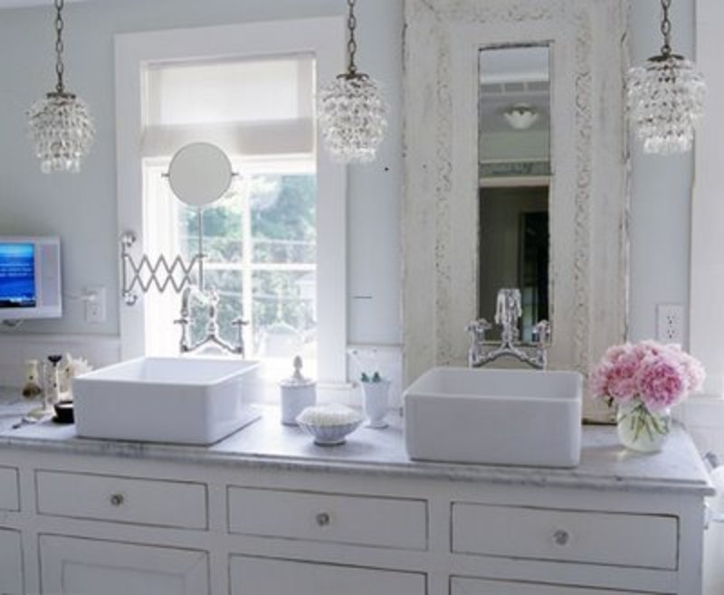 Wow not a huge fan of white for me personally but love for Small romantic bathroom ideas