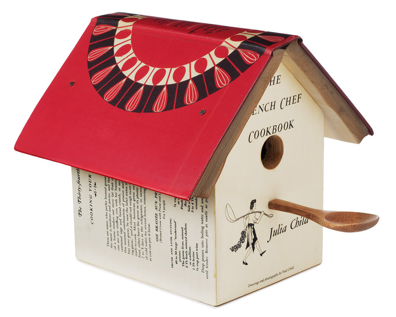 Unique Birdhouses And Feeders, Julia Child Cookbook Birdhouse