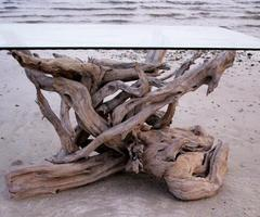 Beautiful Driftwood Dining Tables Hand Crafted From Gulf Island Driftwood...