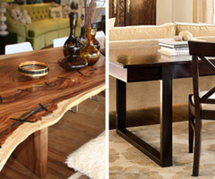 Wood Tables: Rustic Or Refined?
