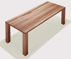 Natural Wooden Dining Table Design By Donert