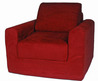 Fun Furnishings Red Micro Suede Chair