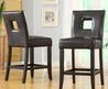 Mendoza Brown Keyhole Back Counter Chairs (Set Of 2)