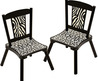 Wild Side Zebra Print Kids' Chairs (Set Of 2)